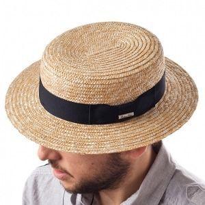 Sombrero Canotier en fibras vegetales