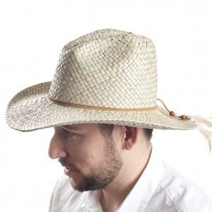 Sombrero Cowboy en fibras vegetales